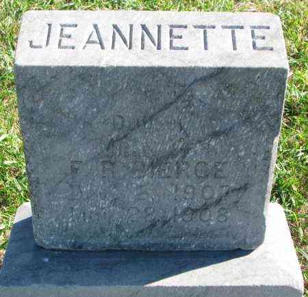 BIERCE, JEANNETTE - Clay County, South Dakota   JEANNETTE BIERCE - South Dakota Gravestone Photos