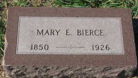 BIERCE, MARY E. - Clay County, South Dakota | MARY E. BIERCE - South Dakota Gravestone Photos