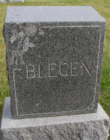 BLEGEN, PLOT - Clay County, South Dakota   PLOT BLEGEN - South Dakota Gravestone Photos