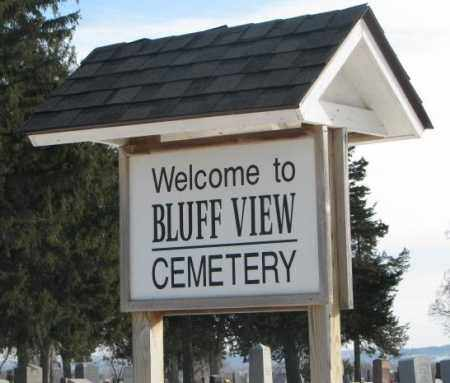 *BLUFF VIEW, ENTRY SIGN - Clay County, South Dakota   ENTRY SIGN *BLUFF VIEW - South Dakota Gravestone Photos