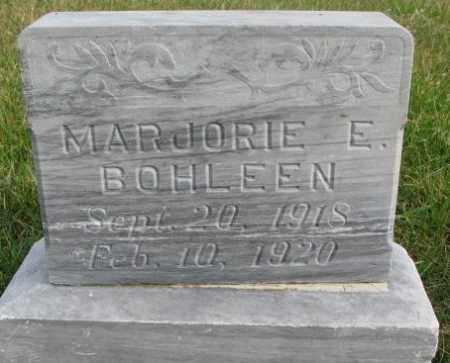 BOHLEEN, MARJORIE E. - Clay County, South Dakota   MARJORIE E. BOHLEEN - South Dakota Gravestone Photos