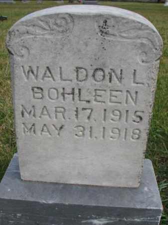 BOHLEEN, WALDON L. - Clay County, South Dakota | WALDON L. BOHLEEN - South Dakota Gravestone Photos
