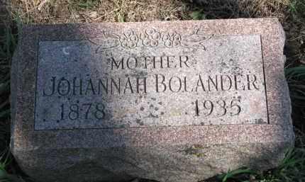 BOLANDER, JOHANNAH - Clay County, South Dakota | JOHANNAH BOLANDER - South Dakota Gravestone Photos