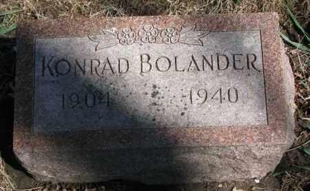 BOLANDER, KONRAD - Clay County, South Dakota   KONRAD BOLANDER - South Dakota Gravestone Photos