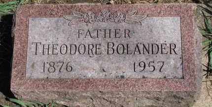 BOLANDER, THEODORE - Clay County, South Dakota | THEODORE BOLANDER - South Dakota Gravestone Photos
