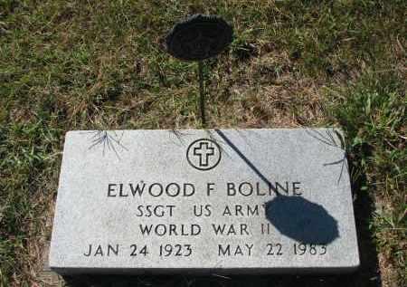 BOLINE, ELWOOD F. - Clay County, South Dakota   ELWOOD F. BOLINE - South Dakota Gravestone Photos
