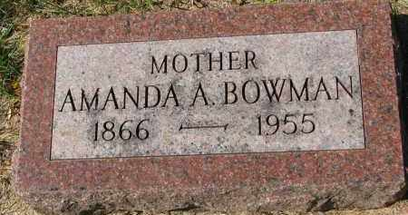 BOWMAN, AMANDA A. - Clay County, South Dakota   AMANDA A. BOWMAN - South Dakota Gravestone Photos