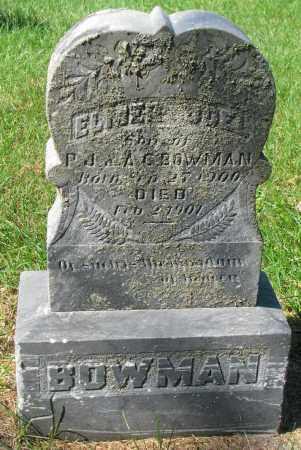 BOWMAN, ELMER JOEL - Clay County, South Dakota | ELMER JOEL BOWMAN - South Dakota Gravestone Photos