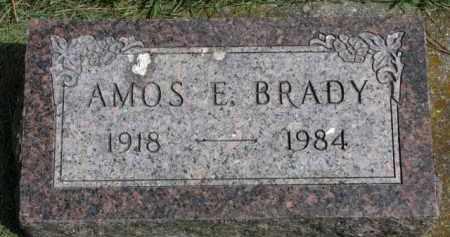 BRADY, AMOS E. - Clay County, South Dakota | AMOS E. BRADY - South Dakota Gravestone Photos