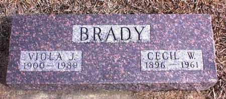 WASHCHEK BRADY, VIOLA J. - Clay County, South Dakota | VIOLA J. WASHCHEK BRADY - South Dakota Gravestone Photos