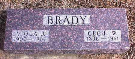BRADY, VIOLA J. - Clay County, South Dakota | VIOLA J. BRADY - South Dakota Gravestone Photos