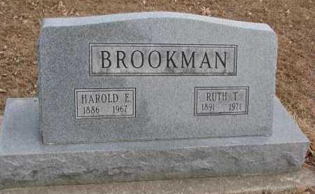 BROOKMAN, HAROLD E. - Clay County, South Dakota | HAROLD E. BROOKMAN - South Dakota Gravestone Photos