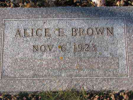 BROWN, ALICE E. - Clay County, South Dakota | ALICE E. BROWN - South Dakota Gravestone Photos
