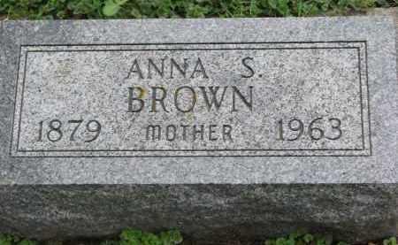 BROWN, ANNA S. - Clay County, South Dakota   ANNA S. BROWN - South Dakota Gravestone Photos