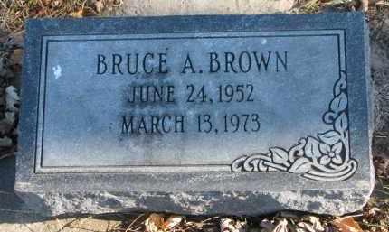 BROWN, BRUCE A. - Clay County, South Dakota   BRUCE A. BROWN - South Dakota Gravestone Photos