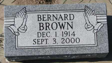 BROWN, BERNARD - Clay County, South Dakota   BERNARD BROWN - South Dakota Gravestone Photos