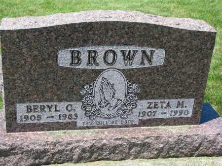 BROWN, ZETA M. - Clay County, South Dakota | ZETA M. BROWN - South Dakota Gravestone Photos