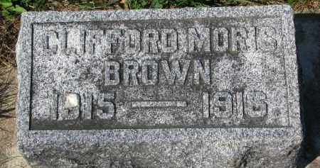 BROWN, CLIFFORD MORIS - Clay County, South Dakota | CLIFFORD MORIS BROWN - South Dakota Gravestone Photos
