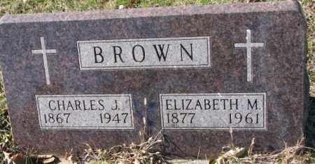 BROWN, CHARLES J. - Clay County, South Dakota | CHARLES J. BROWN - South Dakota Gravestone Photos