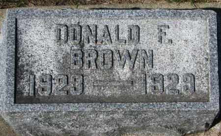 BROWN, DONALD F. - Clay County, South Dakota | DONALD F. BROWN - South Dakota Gravestone Photos