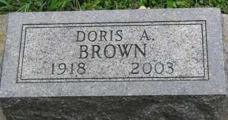 BROWN, DORIS A. - Clay County, South Dakota | DORIS A. BROWN - South Dakota Gravestone Photos