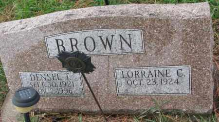 BROWN, DENSEL T. - Clay County, South Dakota | DENSEL T. BROWN - South Dakota Gravestone Photos