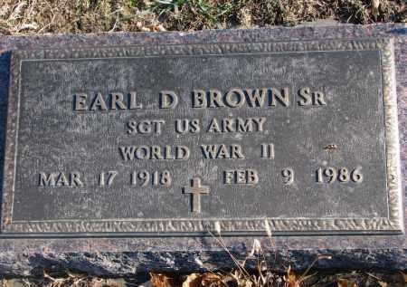 BROWN, EARL D. SR. - Clay County, South Dakota | EARL D. SR. BROWN - South Dakota Gravestone Photos