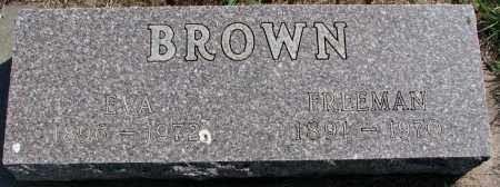 BROWN, EVA - Clay County, South Dakota | EVA BROWN - South Dakota Gravestone Photos