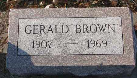 BROWN, GERALD - Clay County, South Dakota   GERALD BROWN - South Dakota Gravestone Photos