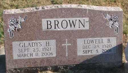 BROWN, GLADYS H. - Clay County, South Dakota | GLADYS H. BROWN - South Dakota Gravestone Photos