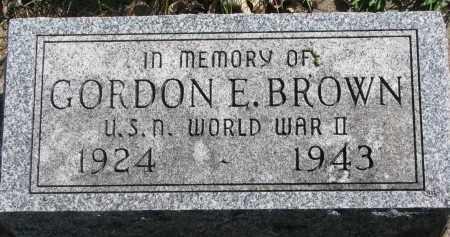 BROWN, GORDON E. - Clay County, South Dakota | GORDON E. BROWN - South Dakota Gravestone Photos
