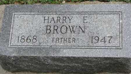 BROWN, HARRY E. - Clay County, South Dakota | HARRY E. BROWN - South Dakota Gravestone Photos