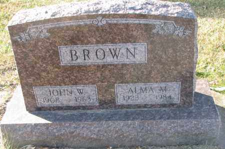 BROWN, JOHN W. - Clay County, South Dakota | JOHN W. BROWN - South Dakota Gravestone Photos