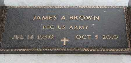 BROWN, JAMES A. (MILITARY) - Clay County, South Dakota | JAMES A. (MILITARY) BROWN - South Dakota Gravestone Photos