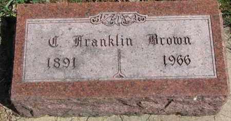 BROWN, J. FRANKLIN - Clay County, South Dakota | J. FRANKLIN BROWN - South Dakota Gravestone Photos