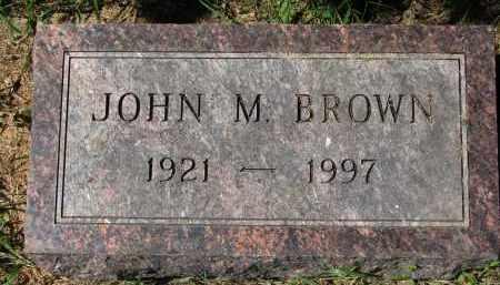 BROWN, JOHN M. - Clay County, South Dakota | JOHN M. BROWN - South Dakota Gravestone Photos