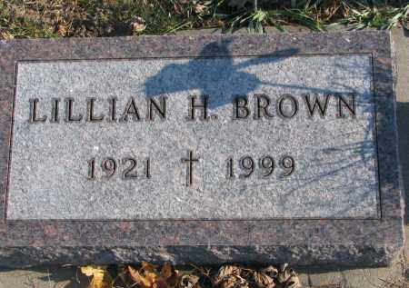 BROWN, LILLIAN H. - Clay County, South Dakota   LILLIAN H. BROWN - South Dakota Gravestone Photos