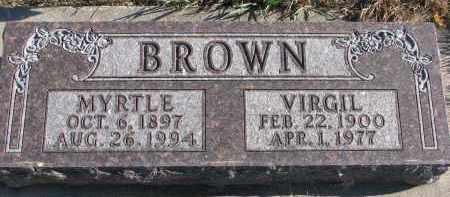 BROWN, MYRTLE - Clay County, South Dakota | MYRTLE BROWN - South Dakota Gravestone Photos