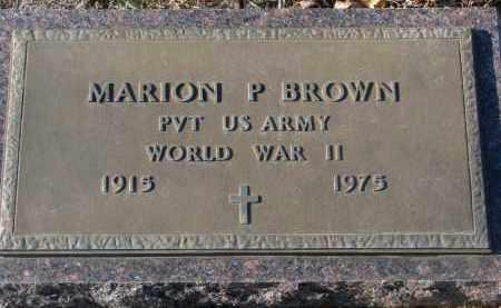 BROWN, MARION P. - Clay County, South Dakota | MARION P. BROWN - South Dakota Gravestone Photos