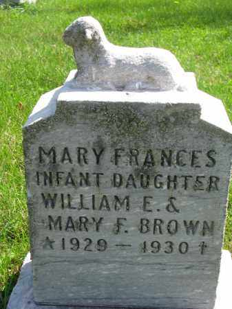BROWN, MARY FRANCES - Clay County, South Dakota | MARY FRANCES BROWN - South Dakota Gravestone Photos