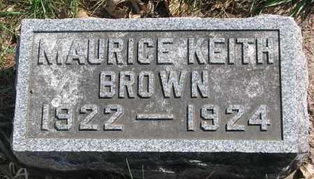 BROWN, MAURICE KEITH - Clay County, South Dakota   MAURICE KEITH BROWN - South Dakota Gravestone Photos