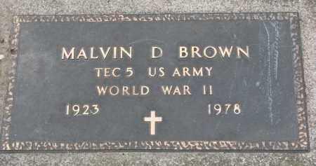 BROWN, MALVIN D. - Clay County, South Dakota | MALVIN D. BROWN - South Dakota Gravestone Photos