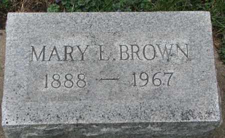 BROWN, MARY L. - Clay County, South Dakota | MARY L. BROWN - South Dakota Gravestone Photos