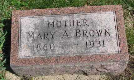 BROWN, MARY A. - Clay County, South Dakota | MARY A. BROWN - South Dakota Gravestone Photos