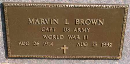 BROWN, MARVIN L. (WW II) - Clay County, South Dakota | MARVIN L. (WW II) BROWN - South Dakota Gravestone Photos