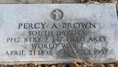 BROWN, PERCY A. - Clay County, South Dakota | PERCY A. BROWN - South Dakota Gravestone Photos