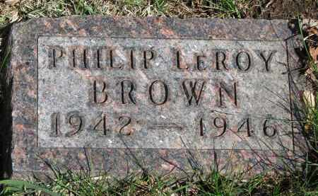BROWN, PHILIP LEROY - Clay County, South Dakota | PHILIP LEROY BROWN - South Dakota Gravestone Photos