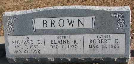 BROWN, ROBERT D. - Clay County, South Dakota | ROBERT D. BROWN - South Dakota Gravestone Photos