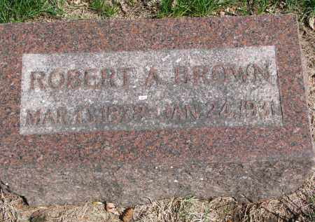 BROWN, ROBERT A. - Clay County, South Dakota | ROBERT A. BROWN - South Dakota Gravestone Photos