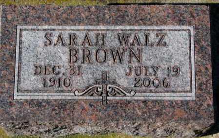 WALZ BROWN, SARAH - Clay County, South Dakota | SARAH WALZ BROWN - South Dakota Gravestone Photos